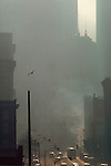 USA, Pacific Northwest, Washington State, Seattle, downtown, Second Avenue, pollution, air pollution, circa, 1991,.