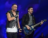 MIAMI, FL - NOVEMBER 07: Mario Domm and Pablo Hurtado of Camila perform during the iHeartRadio Fiesta Latina concert at American Airlines Arena on November 7, 2015 in Miami, Florida. Credit Larry Marano © 2015