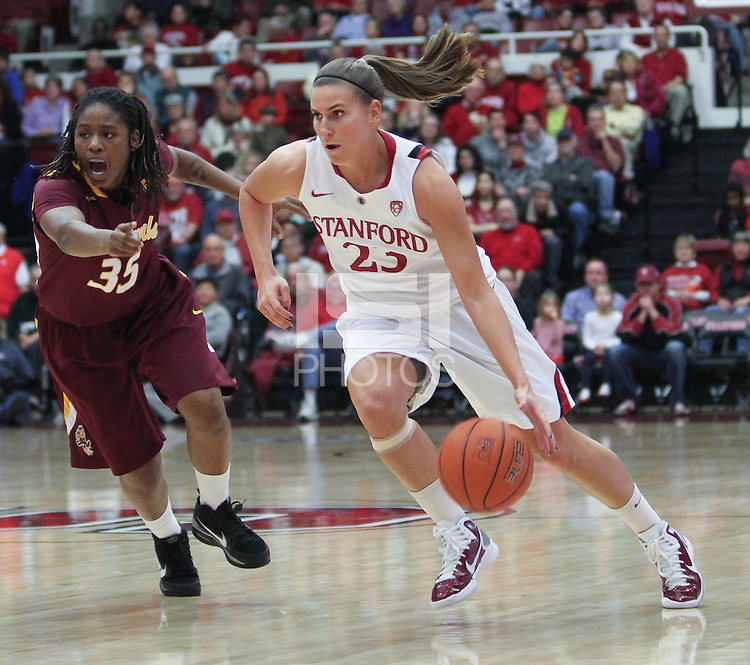 STANFORD, CA:  Jeanette Pohlen during Stanford's 82-35 victory over Arizona State at Stanford, California on January 8, 2011.