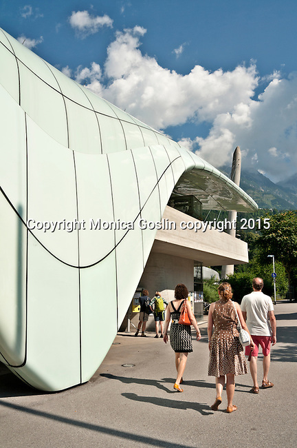 Lowenhaus station of the Hungerburgbahn funicular line, designed by Zaha Hadid; the funicular goes to Nordpark resort at 2,256 meters with views of the Central Inn Valley and access to hiking and skiing