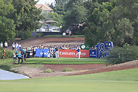 Tommy Fleetwood (ENG) on the 18th tee during the 2nd round of the DP World Tour Championship, Jumeirah Golf Estates, Dubai, United Arab Emirates. 16/11/2018<br /> Picture: Golffile | Fran Caffrey<br /> <br /> <br /> All photo usage must carry mandatory copyright credit (© Golffile | Fran Caffrey)