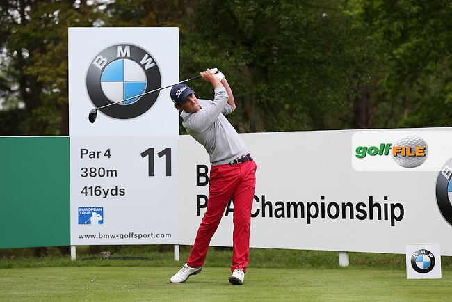 Renato Paratore (ITA) during Round Two of the 2015 BMW PGA Championship over the West Course at Wentworth, Virginia Water, London. 22/05/2015Picture David Lloyd, www.golffile.ie.