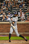 Ichiro Suzuki (Marlins),<br /> SEPTEMBER 14, 2015 - MLB :<br /> Ichiro Suzuki of the Miami Marlins flies out to center in the third inning during the Major League Baseball game against the New York Mets at Citi Field in Flushing, New York, United States. (Photo by Hiroaki Yamaguchi/AFLO)