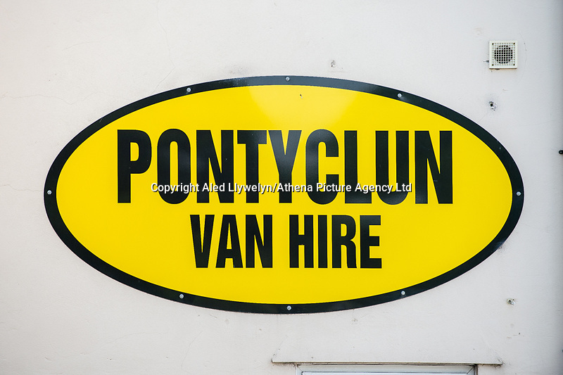 Monday 19 June 2017<br /> Pictured: Sign to the entrance to the hire firm <br /> Re: The van which was driven by Darren Osborne into worshippers near a north London mosque was hired by a firm in south Wales. One man has died and 10 people have been injured after a van mounted a pavement near Finsbury Park Mosque.Forensics officers are examining a white van which has Pontyclun Van Hire on it.