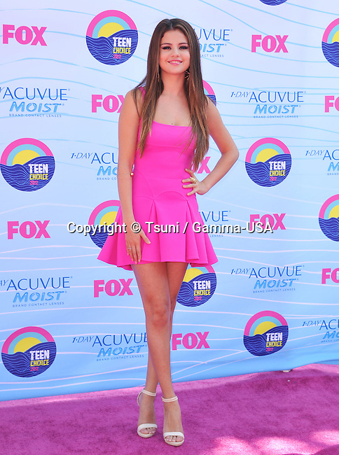 Selena Gomez at the Teen Choice 2012 Awards at the Universal Amphitheatre In Los Angeles.