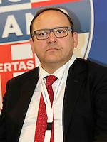 Presentazione dei candidati campani del Nuovo centro destra alle elezioni europee<br /> nella foto Pasquale D'acunzi