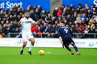 Cameron Carter-Vickers of Swansea City in action during the Sky Bet Championship match between Swansea City and Millwall at the Liberty Stadium in Swansea, Wales, UK. Saturday 09 February 2019