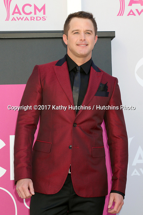 LAS VEGAS - APR 2:  Easton Corbin at the Academy of Country Music Awards 2017 at T-Mobile Arena on April 2, 2017 in Las Vegas, NV