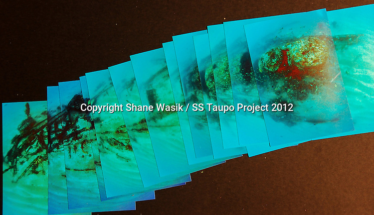 An image of an number of images made into a photo mosaic of the bow and midships area of the SS Taupo. (Photo by Shane Wasik Photography)