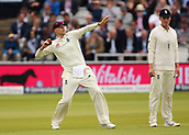 7th September 2017, Lords Cricket Ground, London, England; International Test Match Series, Third Test, Day 1; England versus West Indies; England Captain Joe Root throws in