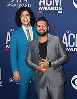 LAS VEGAS, NEVADA - APRIL 07: Dan + Shay, Dan Smyers; Shay Mooney attend the 54th Academy Of Country Music Awards at MGM Grand Hotel &amp; Casino on April 07, 2019 in Las Vegas, Nevada. <br /> CAP/MPIIS<br /> &copy;MPIIS/Capital Pictures