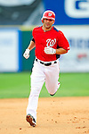 1 March 2011: Washington Nationals' infielder Danny Espinosa rounds the bases after hitting a 2-run homer during a Spring Training game against the New York Mets at Space Coast Stadium in Viera, Florida. The Nationals defeated the Mets 5-3 in Grapefruit League action. Mandatory Credit: Ed Wolfstein Photo