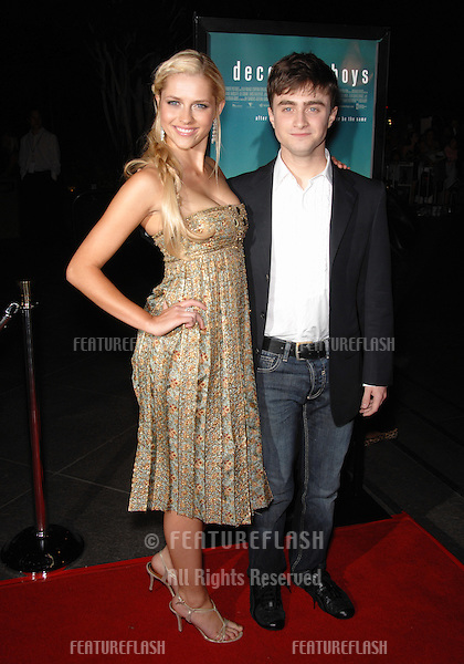 "Daniel Radcliffe & Teresa Palmer at the Los Angeles premiere of their new movie ""December Boys""..September 7, 2007  Los Angeles, CA.Picture: Paul Smith / Featureflash"