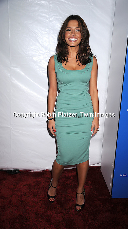 """Life"" cast Sarah Shahi..posing for photographers at The NBC Universal Experience of their Fall 2008-2009 schedule on May 12, 2008 at Rockefeller Center. Stars from NBC, USA, Bravo, Scifi, Oxygen, Telemundo and mun2 were there. ....Robin Platzer, Twin Images"