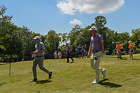 Tom Hoge (USA) and David Hearn (CAN) head to 2 during Round 2 of the Zurich Classic of New Orl, TPC Louisiana, Avondale, Louisiana, USA. 4/27/2018.<br /> Picture: Golffile | Ken Murray<br /> <br /> <br /> All photo usage must carry mandatory copyright credit (&copy; Golffile | Ken Murray)