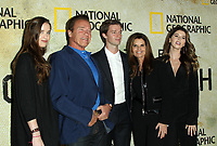 """30 October 2017 - Los Angeles, California - Christina Schwarzenegger, Arnold Schwarzenegger, Patrick Schwarzenegger, Maria Shriver and Katherine Schwarzenegger. National Geographic's """"The Long Road Home"""" Premiere held at Royce Hall in UCLA in Los Angeles. Photo Credit: AdMedia"""
