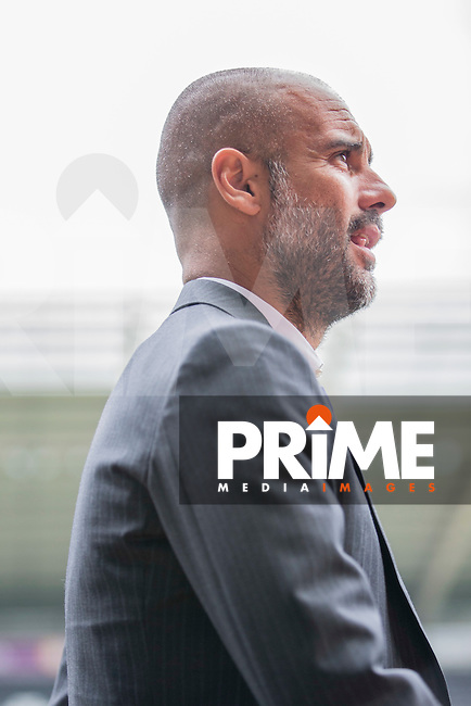 Manchester City manager Pep Guardiola arrives at the ground for the EPL - Premier League match between Swansea City and Manchester City at the Liberty Stadium, Swansea, Wales on 24 September 2016. Photo by Mark  Hawkins.