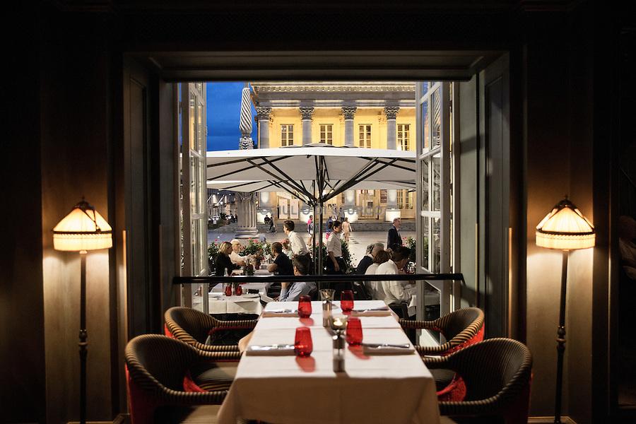 "The terrace of the restaurant "" Le Bordeaux "" by Gordon Ramsay"