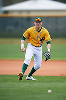 North Dakota State Bison first baseman Ryan Cornell (26) during warmups before a game against the Central Connecticut State Blue Devils on February 23, 2018 at North Charlotte Regional Park in Port Charlotte, Florida.  North Dakota State defeated Connecticut State 2-0.  (Mike Janes/Four Seam Images)