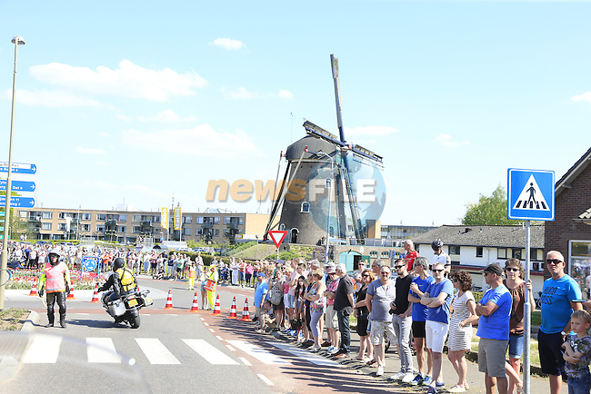 Windmill during Stage 2 of the 2016 Giro d'Italia running 190km from Arnhem to Nijmegen, The Nethrerlands. 7th May 2016.<br /> Picture: Eoin Clarke | Newsfile<br /> <br /> <br /> All photos usage must carry mandatory copyright credit (&copy; Newsfile | Eoin Clarke)