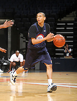 Marcus Paige at the NBPA Top100 camp June 18, 2010 at the John Paul Jones Arena in Charlottesville, VA. Visit www.nbpatop100.blogspot.com for more photos. (Photo © Andrew Shurtleff)