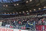 10.02.2018, HDI Arena, Hannover, GER, 1.FBL, Hannover 96 vs SC Freiburg<br /> <br /> im Bild<br /> Fans von Hannover 96 mit Banner / Spruchband &quot;Die Niederlage f&uuml;r einen Neuanfang nutzen - mit 50+1 - und uns!&quot; und Siegjubel, <br /> <br /> Foto &copy; nordphoto / Ewert