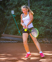 Hilversum, Netherlands, August 6, 2018, National Junior Championships, NJK, Jet Kramer - Evi Roobol<br /> Photo: Tennisimages/Henk Koster