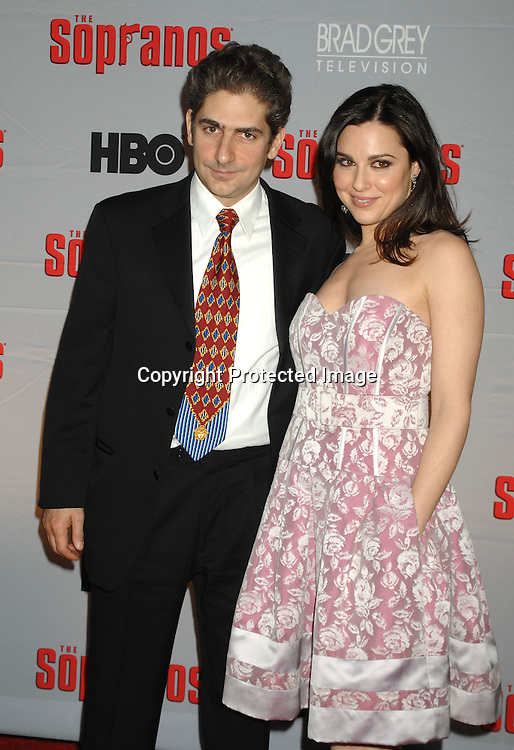 Michael Imperioli and Cara Buono..arriving at The Sopranos World Premiere of two new episodes of the HBO original series on March 27, 2007 at..Radio City Music Hall in New York...Robin Platzer, Twin Images