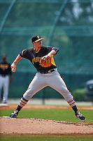 Pittsburgh Pirates pitcher Jake Thompson (56) during an instructional league intrasquad black and gold game on September 18, 2015 at Pirate City in Bradenton, Florida.  (Mike Janes/Four Seam Images)