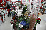Palestinian vendors display a flowers in ''Mother's Day'' in Gaza city, March. 21, 2013. Photo by Emad Nassar