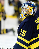 Joe Cannata (Merrimack - 35) - The Merrimack College Warriors defeated the visiting Sweden Under 20 team 4-1 on Tuesday, November 2, 2010, at Lawler Arena in North Andover, Massachusetts.