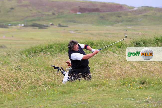 Tommy Grehan (Roscommon) in the rough on the 12th during the Athlone V Westport Connacht Senior Cup Final at Co.Sligo Golf Club in Rosses Point on Sunday 28th June 2015.<br /> Picture:  Golffile | Thos Caffrey