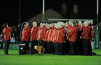 14th December 2013; Singers from the Cavan Rugby Club Choir entertain the crowd at half time. Heineken Cup Pool 3, round 4, Connacht v Toulouse, The Sportsground, Galway. Picture credit: Tommy Grealy/actionshots.ie.