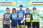 Marianne Vos (NED) CCC-Liv wins the overall classification with Mavi Victo Garcia (ESP) MovistarTeam Women 2nd and Soraya Paladin (ITA) Ale Cipollini 3rd place at the end of Stage 2 of the 2019 ASDA Tour de Yorkshire Women's Race, running 132km from Bridlington to Scarborough, Yorkshire, England. 4th May 2019.<br /> Picture: ASO/SWPix | Cyclefile<br /> <br /> All photos usage must carry mandatory copyright credit (© Cyclefile | ASO/SWPix)
