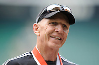 Gordon Tietjens, New Zealand Sevens Head Coach, during Day Two of the iRB Marriott London Sevens at Twickenham on Sunday 11th May 2014 (Photo by Rob Munro)
