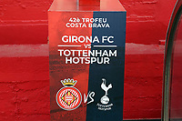 The plinth which will hold the match ball before Girona FC vs Tottenham Hotspur, Friendly Match Football at Estadi Montilivi on 4th August 2018