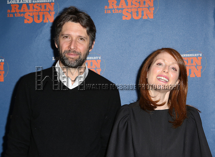 Bart Freundlich and Julianne Moore attending the Broadway Opening Night Performance of 'A Raisin In The Sun'  at the Barrymore Theatre on April 3, 2014 in New York City.