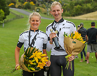 New champions, Georgia Williams and Hamish Bond, BDO Elite Road National Championships - Time Trials,  New Zealand. Friday, 05 January,  2018. Copyright photo: John Cowpland / www.photosport.nz