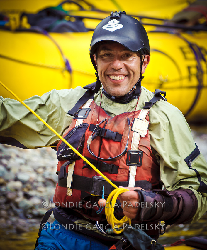 River guide Robert Currie, Rio Futaleufu, Patagonia, Chile, South America