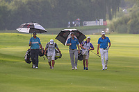Jaco Prinsloo, Bradley Neil (SCO) and Jake Roos during the 2nd round of the BMW SA Open hosted by the City of Ekurhulemi, Gauteng, South Africa. 12/01/2017<br /> Picture: Golffile | Tyrone Winfield<br /> <br /> <br /> All photo usage must carry mandatory copyright credit (&copy; Golffile | Tyrone Winfield)