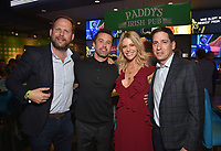 """HOLLYWOOD - SEPTEMBER 24: Nick Grad, Rob McElhenney, Kaitlin Olson and Eric Schrier attend the post-party at Dave & Busters following the  premiere of FXX's """"It's Always Sunny in Philadelphia"""" Season 14 on September 24, 2019 in Hollywood, California. (Photo by Stewart Cook/FXX/PictureGroup)"""