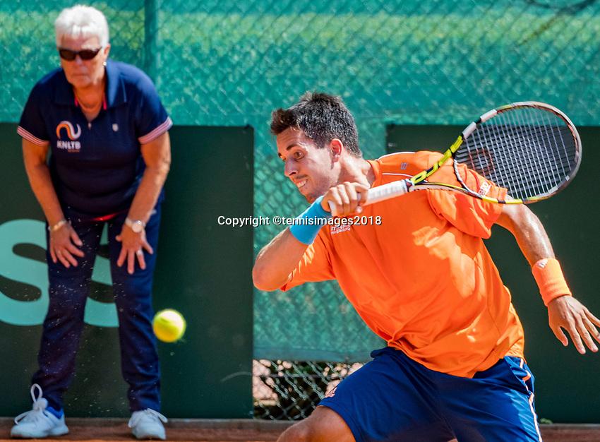 The Hague, Netherlands, 10 June, 2018, Tennis, Play-Offs Competition, Sebastian Fanselow (GER)<br /> Photo: Henk Koster/tennisimages.com