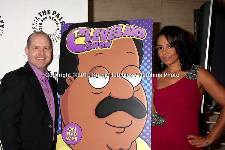 "LOS ANGELES - SEP 23:  Mike Henry, Sanaa Lathan arrives at ""The Cleveland Show"" DVD Release Party & Panel DIscussion  at Paley Center for Media on September 23, 2010 in Beverly Hills, CA"