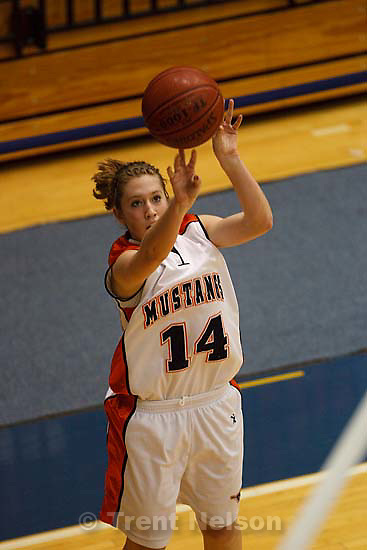 Taylorsville - Highland vs. Mountain Crest High School girls basketball at the 4A State Tournament Tuesday February 24, 2009 at Salt Lake Community College. Mountain Crest's Shelby Rudd (14)