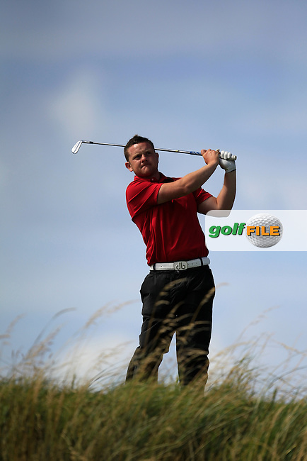 Aidan Kelly (The Heritage) on the 16th tee during the South of Ireland Amateur Open Championship Third Round at Lahinch Golf Club  29th July 2013 <br /> Picture:  Thos Caffrey / www.golffile.ie