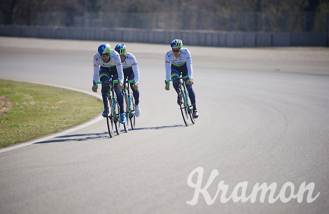 training/coffee ride with Team Orica-GreenEDGE at Monza F1 race circuit 1 day before Milan-San Remo