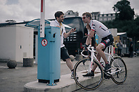 Bauke Mollema (NED/Trek-Segafredo) interviewed before the start<br /> <br /> 104th Tour de France 2017<br /> Stage 3 - Verviers › Longwy (202km)