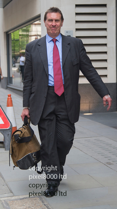 Hacking trial Old Bailey London<br /> Former royal reporter of News of the World leaves court where he was continuing his evidence today<br /> <br /> <br /> <br /> Pic by Gavin Rodgers/Pixel 8000 Ltd 15.5.14