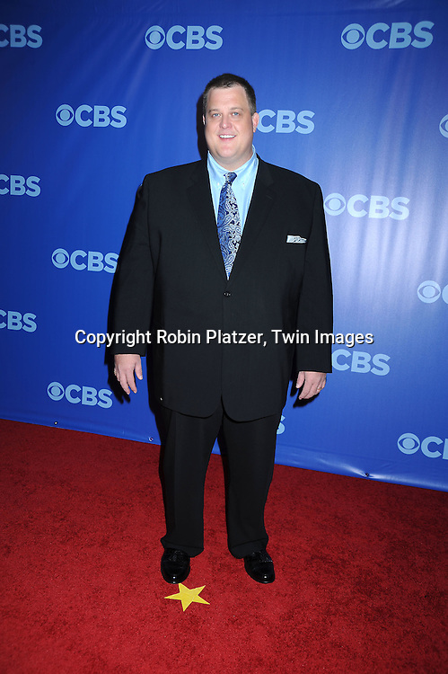 """Billy Gardell of """"Mike & Molly"""" attending the CBS Network 2010 Upfront on May 19, 2010 at Lincoln Center in New York city."""