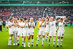01.05.2019, RheinEnergie Stadion , Köln, GER, DFB Pokalfinale der Frauen, VfL Wolfsburg vs SC Freiburg, DFB REGULATIONS PROHIBIT ANY USE OF PHOTOGRAPHS AS IMAGE SEQUENCES AND/OR QUASI-VIDEO<br /> <br /> im Bild | picture shows:<br /> Abpfiff in Köln, die Frauen des VfL Wolfsburg jubeln über den fünften Pokalsieg in Serie, <br /> <br /> Foto © nordphoto / Rauch